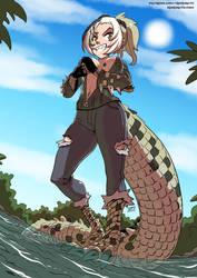 Kemono friends: Saltwater Crocodile by KukuruyoArt