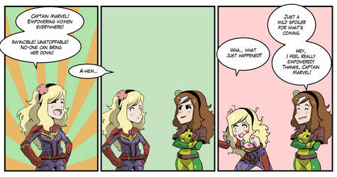 Vivian and Lilian Captain Marvel comic by KukuruyoArt