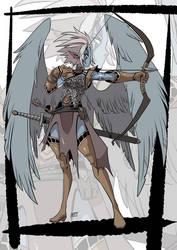 Commission: Winged archer by KukuruyoArt