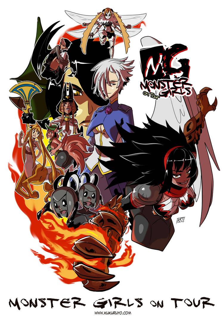 Monster girls on tour, new cover by KukuruyoArt