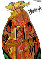 Mothra monster girl by KukuruyoArt