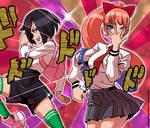 River city girls: Kyoko and Misako by KukuruyoArt