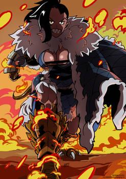 D'Zaitan on fire