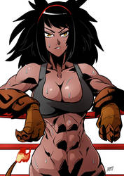 K'sara at the gym