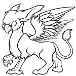 Gryphon - Free Lineart