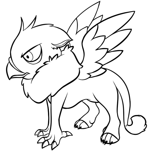 gryphon coloring pages kid gryphon free lineart by flying gryphon