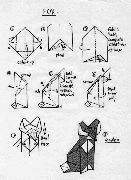 Fox Origami By SorayaAnimeFan4Ever