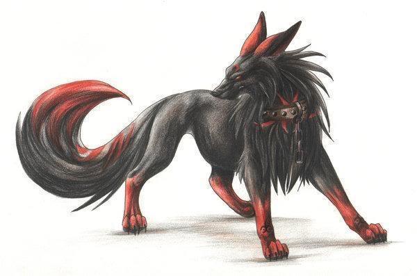 Anime Shadow Wolf Wallpaper