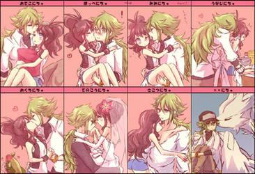 Kiss Meme PKMN Black and White by SorayaAnimeFan4Ever