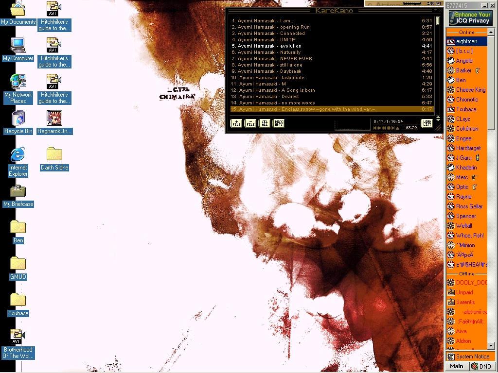 desktop of eros by johnayanami