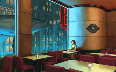 Night Coffee ( Hopper went to Rapture )