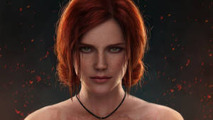 Triss 2 Wallpaper by astoralexander