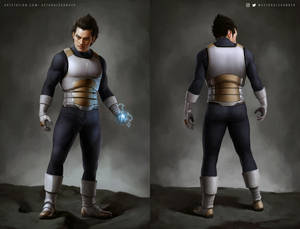 Vegeta Concept Art - Second Suit