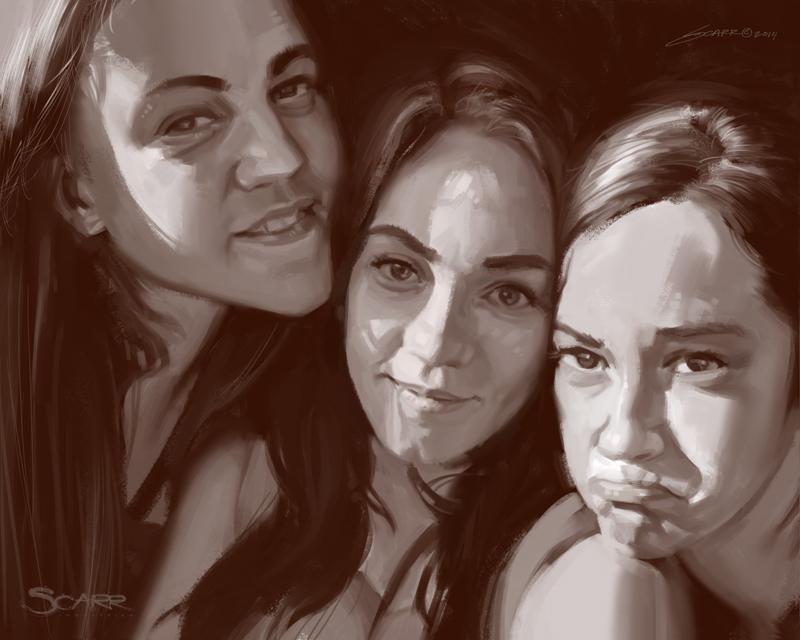 Sisters by scarrart