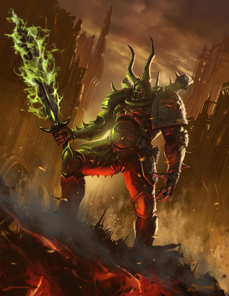 Chaos Sorcerer by scarrart