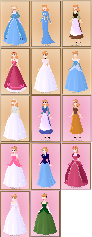 Cinderella All Dresses By Disneyfanart1998 On Deviantart