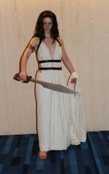 Queen Gorgo with sword by AnariaZar-Rel