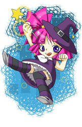Chibi Witch by CrystalStarSpirit