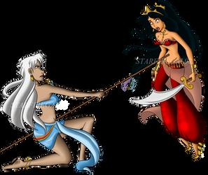 Commission: Jasmine and Kida