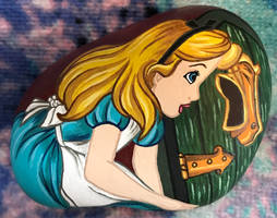 Painted Rock - Alice by starfiregal92