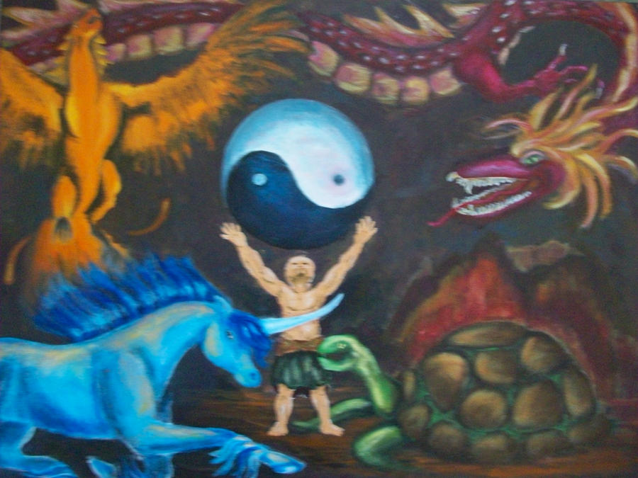 Chinese Creation Myth Picture, Chinese Creation Myth Image