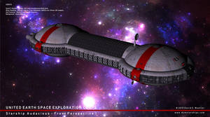 Starship Audacious Upper Front Perspective