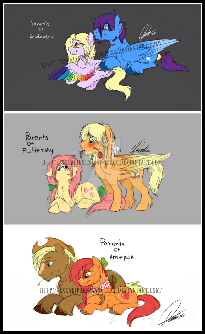 My Little Pony Parents Applejackfluttersdash By
