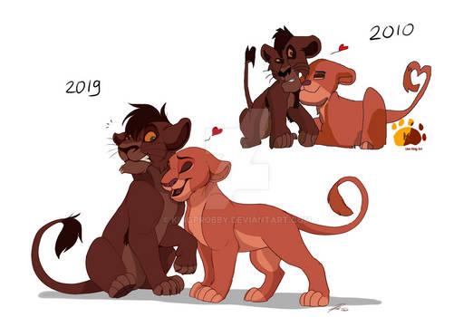 9 years difference - Kiara and Kovu