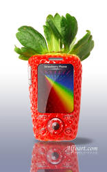 Funny Strawberry cell phone