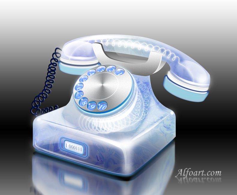 Retro Phone photoshop tutorial by AlexandraF