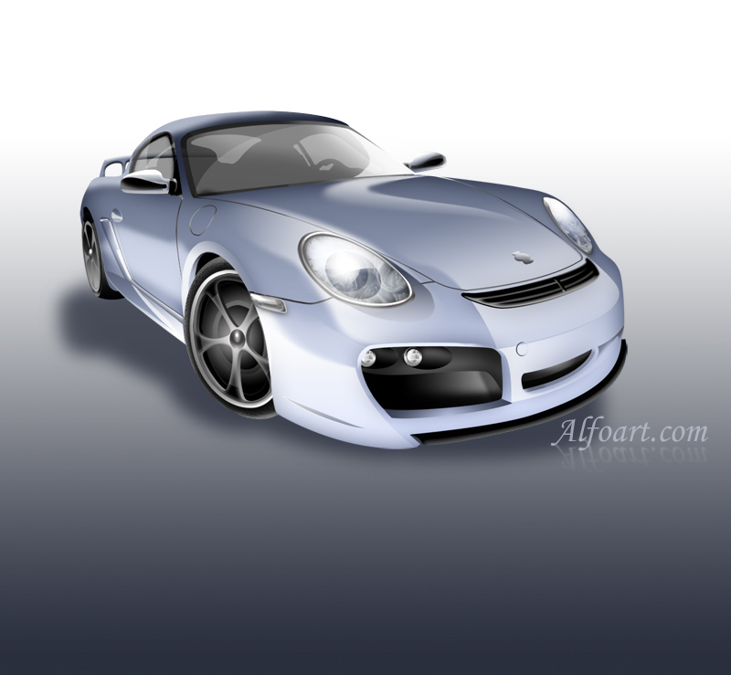 Porsche illustration tutorial. by AlexandraF