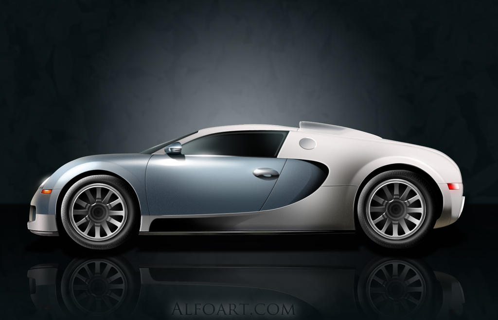 Bugatti Veyron illustration by AlexandraF