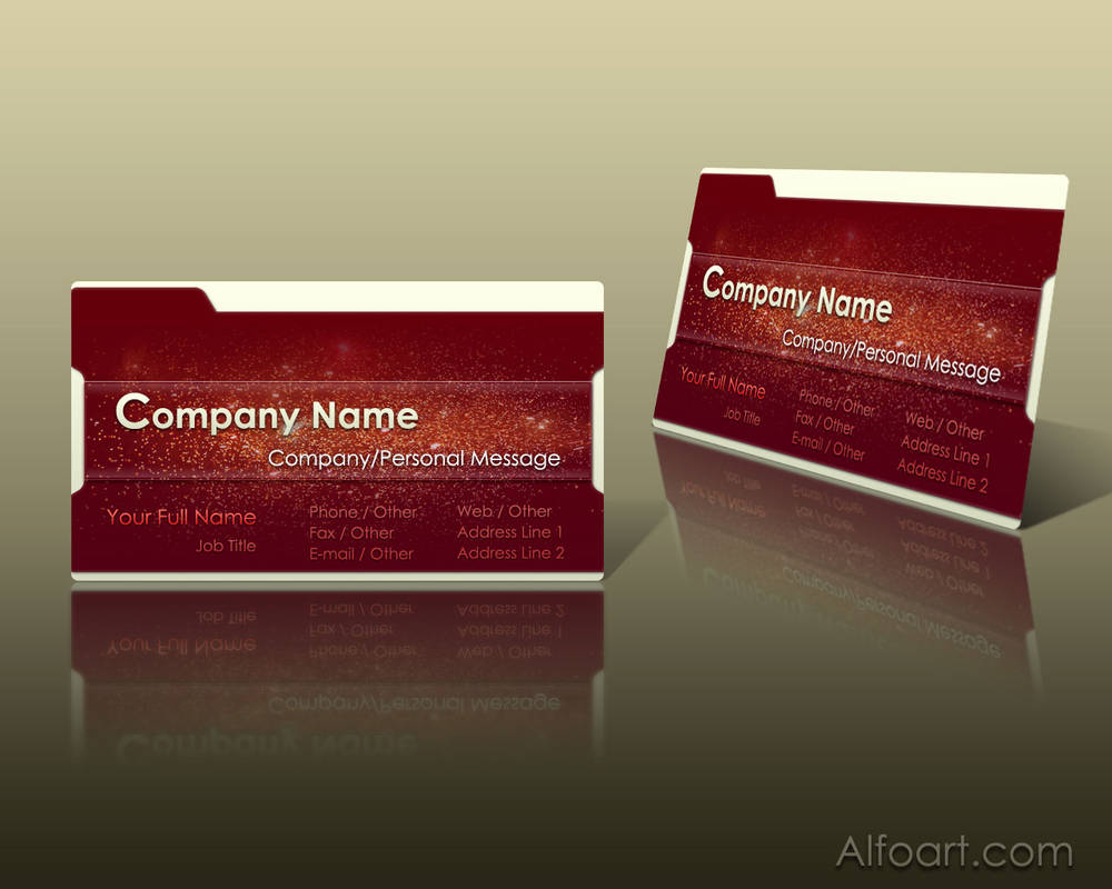 Business Card layout by AlexandraF