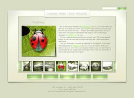 Clean web layout for portfolio by AlexandraF