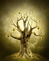 Golden apple-tree. PS Tutorial by AlexandraF