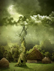 Fairy night. Beanstalk. by AlexandraF