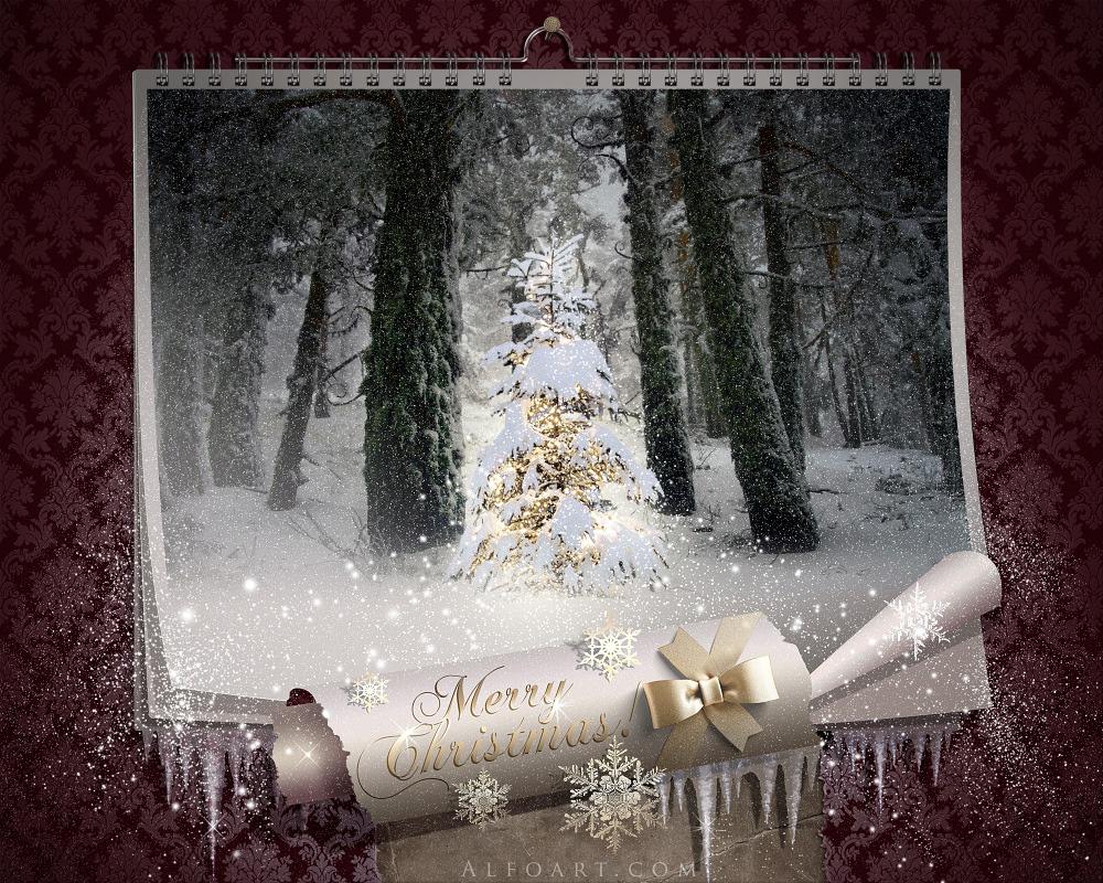 Fairy Christmas night. by AlexandraF
