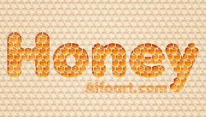 Honey bubbles text effect.