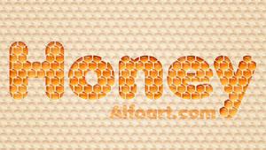 Honey bubbles text effect. by AlexandraF