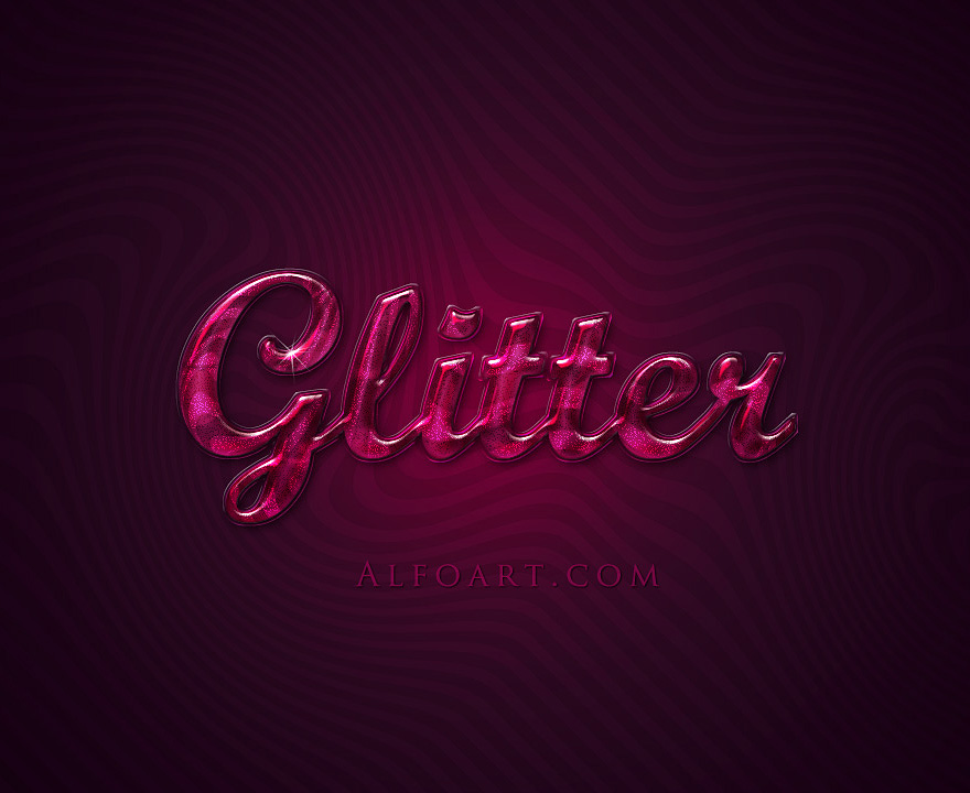 Extremely glossy text  effect. by AlexandraF