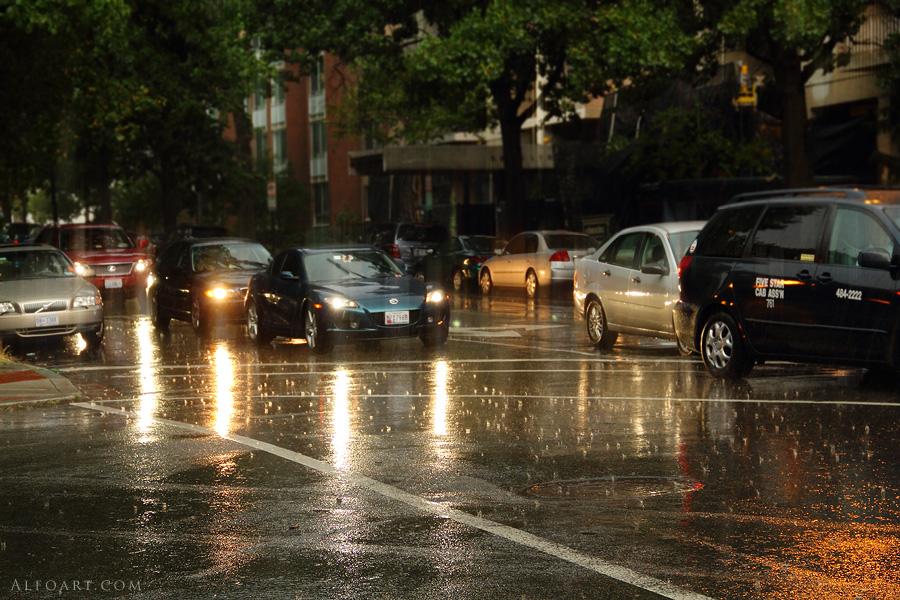 Rainy road by AlexandraF