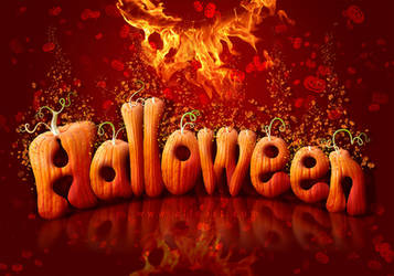 Halloween text effect tutorial with free brushes by AlexandraF