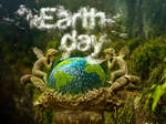 Earth Day 2014 and Clouds text effect.