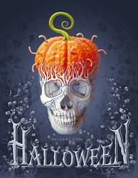 Halloween Card PS Tutorial by AlexandraF