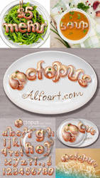 Octopus text effect. Tentacle style letters. by AlexandraF