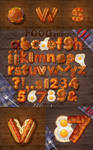 3D Style fast food text effect.