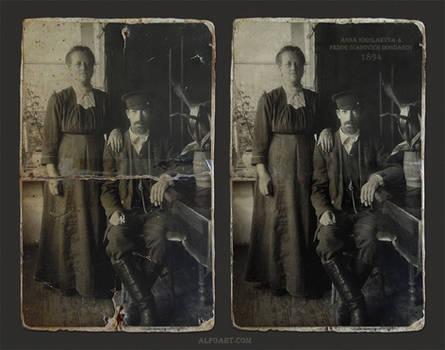 Restore old damaged photo in Photoshop