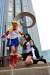 Sailor Moon and Sailor Pluto Cosplay