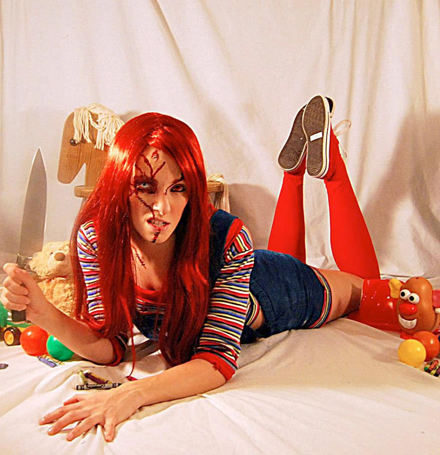 Chucky Costumes For Girls Girl Chucky Doll Costume
