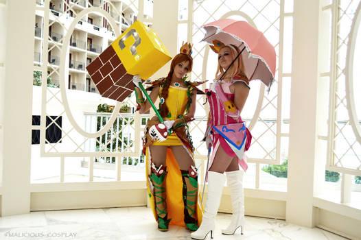 Warrior Daisy and Peach Cosplay